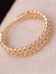 Band Rings Brass Fashion Simple Style Silver Rose Gold Jewelry Party 1pc