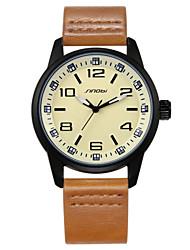Men's Watch Famous Brand Movement Vintage Leather Strap Sports Quartz Wristwatch Cool Watch Unique Watch