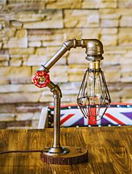 Vintage Edsion Bulb Table Lamp Light  Water Pipe Desk Lamp Indoor Lighting E27 110-220V Bulb-FJ-DT2S-035A0