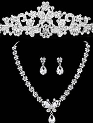 Wedding Jewelry Diamond Three-Piece Suit  Bridal Jewelry Set