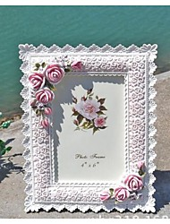 Floral Theme / Classic Theme Resin Photo Frames White