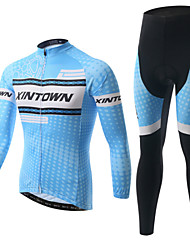 XINTOWN Cycling Clothing Bike Fleece Long Sleeve Jersey Bicycle Sportwear Suit Jersey + Trousers