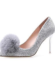 Women's Shoes  Stiletto Heel Heels / Pointed Toe / Closed Toe Heels Dress Black / Silver