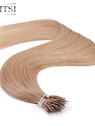 """neitsi® 20 """"1 g / s nano Ringschleife gerades Haar 100% Echthaar Haarverlängerungen 18 # include Haar-Tools"""