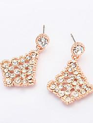 Fashion Golden Alloy / Rhinestone Stud Earrings