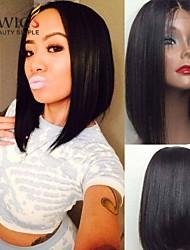 joywigs en stock 12inch bob droite couleur naturelle dentelle cheveux vierges brazilian perruque avant