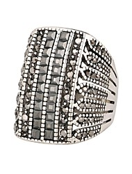 Ring Fashion Party Jewelry Alloy / Rhinestone Women Statement Rings 1set,One Size Silver