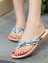 Women's Summer Canvas Casual Flat Heel Flower Black Blue Pink Red