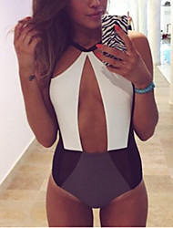 Women's Bandeau Bikinis , Solid Wireless / Padless Bra Polyester Animal Print