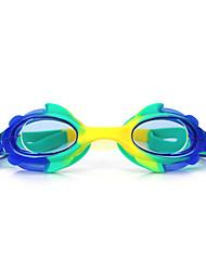 tamanho feiupe®adjustable, impermeável, anti-fog para crianças luz azul / azul / laranja / rosa óculos de natação / azul escuro