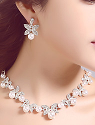 Korean Wedding/Engagement/Party/Birthday Jewely Sets with Crystal/Pearls