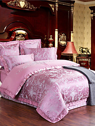 Hot Sale Pink Bedding Set Tribute Silk Soft Bed Linen Sheets for Living Room Home Textiles 4Pcs Queen King Size
