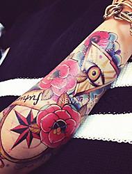 Waterproof Body Skull Rose Flowers Graphic Fake Transfer Sexy Temporary Tattoo
