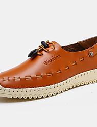 Zapatos de Hombre Mocasines Exterior / Oficina y Trabajo / Vestido / Casual / Fiesta y Noche Nappa Leather Azul / Marrón