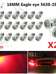 20x 18мм 9wled орлиный глаз DRL дневного времени идущий резервный свет тумана автомобиль авто красный 12v