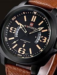Men NAVIFORCE watch Quartz Waterproof Sports Watch Calendar Genuine Leather Wristwatch Wrist Watch Cool Watch Unique Watch