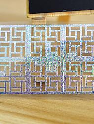 Autocolantes de Unhas 3D - Abstracto - para Dedo - de Outro - com 5 sheet - 13*7.5