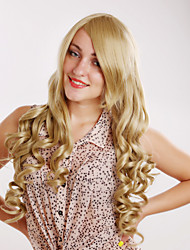 Fashion Charming Cosplay Blonde Long Curly of High Quality Synthetic Hair