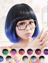 "Neitsi 100% Kanekalon Fiber 14""(35cm) 160g/pc Women's Girl's Cosplay Short Synthetic BOB Ombre Hair Wigs"