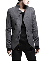 High Quality Men's Long Sleeve Regular Blazer , Cotton / Linen Pure Men Coat