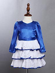 Robe Fille de Eté Coton Bleu