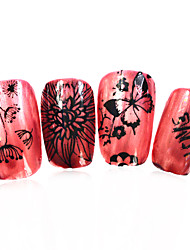 1pcs nieuwe 12x6cm image diy stamping platen nail art templates stencils voor polish xy-L25