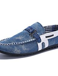 MasculinoConforto-Rasteiro-Preto / Azul-Jeans-Casual