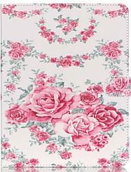 roses en cuir folio cas de couverture de stand avec support pour iPad 4/3/2