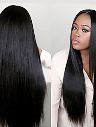 "10""-26""Unprocessed Virgin Brazilian Glueless Full Lace Human Hair Lace Wigs Straight Lace Front Wig For Black Women"