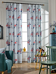 Small Cartoon Horse Two Panels Modern Bedroom Linen/Polyester Blend Blackout Curtains Drapes