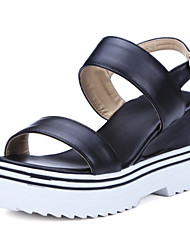 Women's Shoes Wedge Heel Wedges Sandals Dress / Casual Black / White