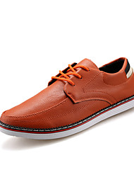 Young Fashion Men's Breathable Lace-up Leather Shoes in Leisure Style for Walking/Working/Travelling