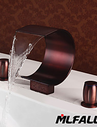Mlfalls Brands Brass polished Oil-Rubbed Bronze Large Waterfall Deck Mounted Bath Basin Or Bathtub Faucets