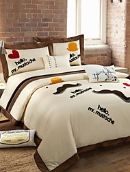 Bohemia Embroided Bedclothes for Double Bed Cotton Fabric