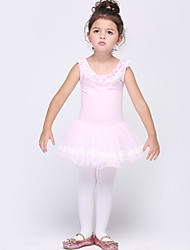 Girl's Pink Dress , Ruffle Cotton / Spandex All Seasons