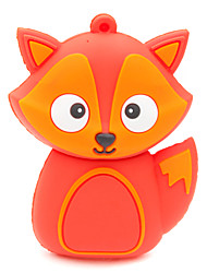 ZPK37 64GB Red Fox Cartoon USB 2.0 Flash Memory Drive U Stick
