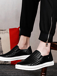 Men's Shoes Amir 2016 New Arrival Hot Sale Office/Casual Black/White Leather Creepers Style Loafers