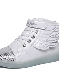 LED Light Up Shoes, Unisex Kid Upgraded Patent Leather Wings  Sport Shoes Flashing Sneakers USB Charge