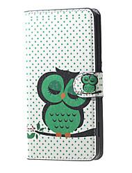 Pour Coque Nokia Portefeuille Porte Carte Avec Support Coque Coque Intégrale Coque Chouette Dur Cuir PU pour Nokia Autre