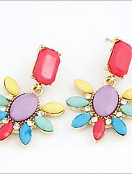 Earring Drop Earrings Jewelry Women Gemstone & Crystal / Alloy / Rhinestone 2pcs Silver