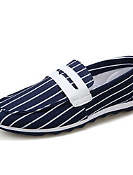 Men's Shoes Casual Canvas Loafers Blue / Red / White