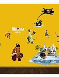The Latest Cartoon Stickers Listed Glacier World Children Room Kindergarten Decorative Wall Stickers