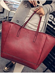 Women PU Casual Tote Brown / Red / Black
