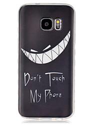 Für Samsung Galaxy Hülle Transparent Hülle Rückseitenabdeckung Hülle Schwarz & Weiß TPU SamsungS7 / S6 edge / S6 / S5 Mini / S5 / S4 Mini