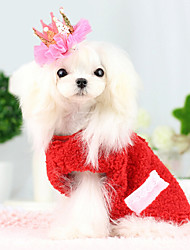 Dog Costume / Coat / Outfits Red / Blue Dog Clothes Winter Cosplay / Fashion / Halloween