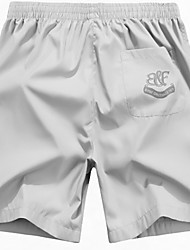 Men's Cotton Solid Swim Shorts