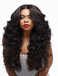 Hot Selling Black Color Synthetic Top Quality Long Curly Wigs