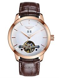 homens guanqin automática auto-liquidação relógio 100m impermeável calendário turbilhão oco cristal de safira do relógio de pulso 44