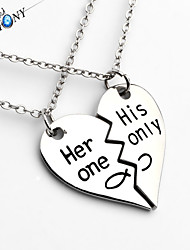 A Letter She His Only Fashion Lovers Pendant Necklace