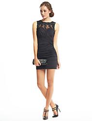 Fourreau / Colonne Bijoux Courte / Mini Jersey Soirée Cocktail Retour Robe avec Appliques Croisé par TS Couture®